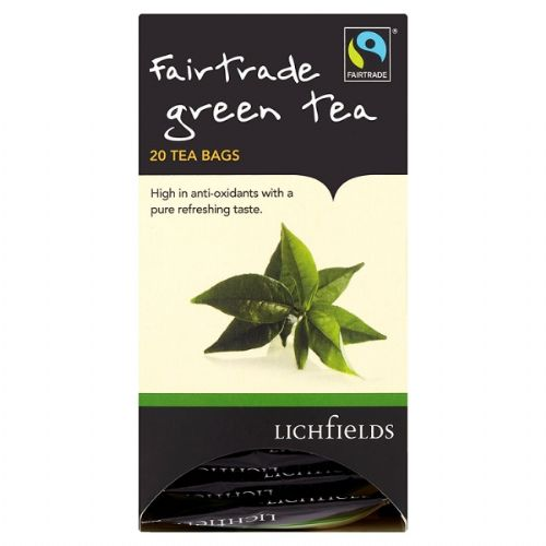 FAIRTRADE - Lichfields Green Tea teabags - bulk portions sachets online